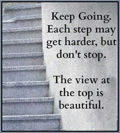 Quote. Never give up