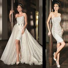 vestidos de novia dos en uno