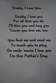 cute fathers day poem :)