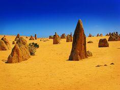 Pinnacles at Nambung National Park  Perth, Australia Perth Australia, Australia Travel, Western Australia, Nambung National Park, Places To Travel, Places To Go, Australian Desert, Australian Continent, Outdoor Pictures