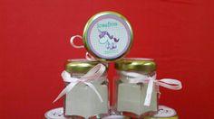 Frasquito de vidrio con #vela #aromatica pimpollito velas  Personalizado Souvenir