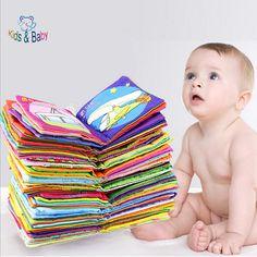 Bayi & Anak-anak Lembut Sun Buku Kain Mainan Bayi Teether Bayi Mainan Anak Awal Belajar & Pendidikan Hewan Guncang Ponsel