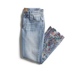 Stitch Fix Spring Stylist Picks: Floral embroidered hem skinny jeans