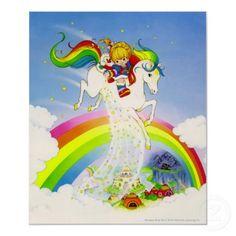 Rainbow Brite & Starlite over rainbow poster!