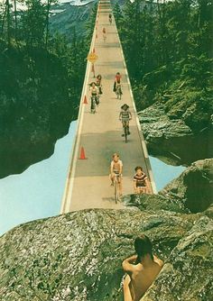"""Saatchi Art is pleased to offer the collage, """"Here Comes The Summer,"""" by jesse treece. Original Collage: Paper on N/A. Size is 0 H x 0 W x 0 in. Collage Book, Surreal Collage, Art Collages, Nature Collage, Collage Artists, Here Comes The Summer, Photography Collage, Creepy Pictures, Illustration"""