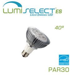 EarthLED LumiSelect™ ES PAR30 - 10 Watt - 600 Lumen - 3000K Warm White - 40 Degree - Dimmable Energy Star LED Floodlight - 65 Watt Replacement