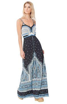 [Jelena Crochet Maxi Dress] [Womens Dresses] [Hale Bob Dresses] - Hale Bob