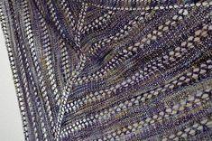 Items similar to Moa Shawl - Lace Knit Triangle Scarf in Soft Hand-Dyed Superwash Wool - Deep Purple, Bronze, Gold Highlights - Boho Women's Handmade Fashion on Etsy Shawl Patterns, Knitting Patterns, Knitting Projects, Malabrigo Sock, Crochet Hair Accessories, Crochet Headband Pattern, Triangle Scarf, Pattern Library, Knitted Shawls