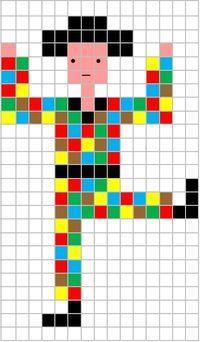 Coding Unplugged e Pixel Art: la scheda di Carnevale di Arlecchino - Maestro Alberto