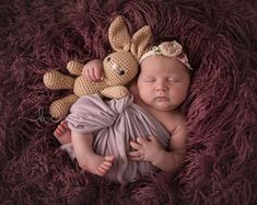 Crochet Bunny Snuggle Toy/Newborn Photography Prop/Baby Shower Gift/Newborn Photo Prop/Easter Bunny Toy/Easter Photo Prop/Bunny Amigurumi