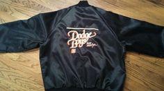 Vintage Dodge Boys Have More Fun black satin zip Racing Jacket Adult Large New