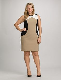 Plus Size Colorblock Sheath Dress Barn