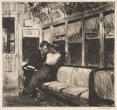 Edward Hopper Night on the El Train1918