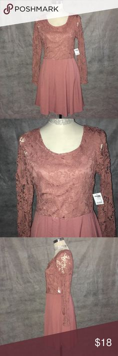 ⭐️NWT⭐️ Muave Crochet Dress w/Pleated Bottom! This posting is for the Muave Crochet Dress w/Box Pleated Bottom in size medium by Charlotte Russe. Its new with tags and never been worn. Dress does have a stretch lining at the top and the bottom. 100% Polyester fabric. Thanks for visiting and please check out my other items!!😘😘 Charlotte Russe Dresses Midi