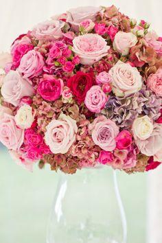 Huge pink bouquet
