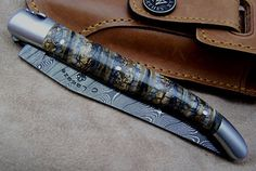 A beautiful laguiole knife, no idea what the handle is made of though.