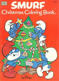 SMURF Christmas Coloring Book - 1982