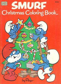 SMURF Christmas Coloring Book - 1982