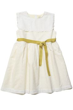Eyelet bib dress. Perfect for spring parties or for a flower girl!