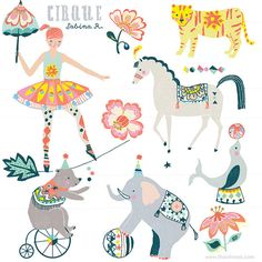 CLIP ART - Cirque - for commercial and personal use