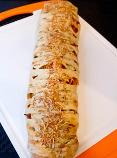 Braided Spaghetti Calzone - Cooking with Mel