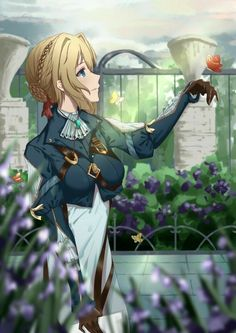 Violet Evergarden is a beautiful anime. Manga Anime, Anime Nerd, Manga Girl, Anime Girls, Female Characters, Anime Characters, Violet Evergreen, Violet Garden, Violet Evergarden Anime