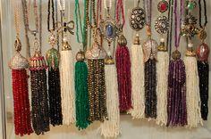 Tassel necklaces available exclusively at BonheurMaison.com #tassle #tasslenecklace