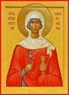 St. Photini of Smaritian Russian Orthodox icon