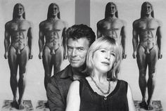 David Bowie and Marianne Faithfull by Brian Aris