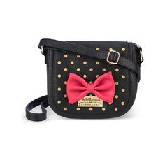 Minnie Mouse Across The Body Bag, Disney Signature Collection ($29) ❤ liked on Polyvore featuring bags, handbags, shoulder bags, disney purse, quilted crossbody, cross body, crossbody handbags and quilted handbags