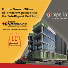 MindSpace, Commercial office complex by Imperia Structures, is located at Sector Golf Course Extension Road,Gurgaon. Offering office Space & food court spaces with A. Operating Cost, Smart City, Delhi Ncr, Golf Courses, Building, Buildings, Construction, Architectural Engineering