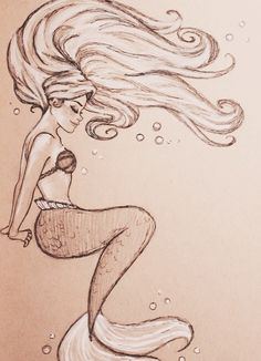 Drawing of mermaid