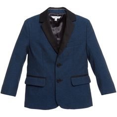 Little Marc Jacobs Boys Blue & Black Blazer