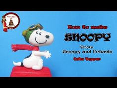 How to make Snoopy out of fondant cake topper - YouTube