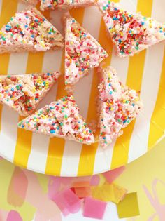 Fairy Bread Puffed Rice Party Treats - Allergy Friendly - My Poppet Living
