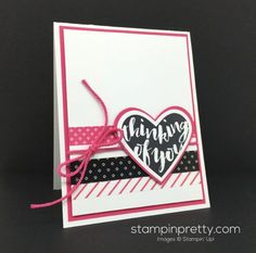 A Peek at Pop of Pink Washi Tape! (Mary Fish, Stampin' Pretty The Art of Simple & Pretty Cards) Washi Tape Cards, Washi Tapes, Mary Fish, Stampin Pretty, Petal Pushers, Stampin Up Catalog, Get Well Cards, Pretty Cards, Sympathy Cards