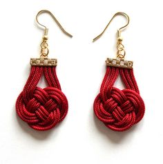 Fabric Knotted Earrings-25USD- do site muntedkowhai.bigcartel.com - Brincos com nó
