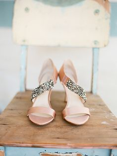 blush pink and bling
