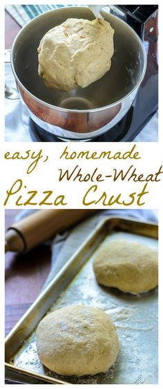 Easy, Homemade, Whole-Wheat Pizza Crust // Well-Plated