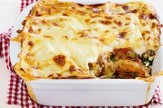 "Vegetarian lasagne - """"This one is absolutely delicious! "" - MiniJeanne ""My super fussy daughter ate it cos it smelt nice cooking and she loved it."" - Melissa03 ""I have managed to cook this with a toddler running around and a newborn on my hip! Just love it!"" - Chelsea_Girl"