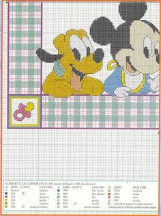 copertina punto croce schema con Disney Bebé (3)