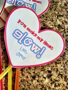 you make my heart glow, glow stick valentine