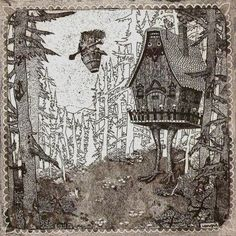 phil0kalia:    (via Baba Jaga by ~iphigen on deviantART)  A thought that goes through my mind at least once a month: man, I really want to make a painting of Baba Yaga.