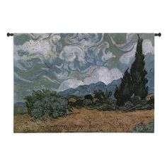 Fine Art Tapestries Wheat Field with Cypresses Wall Tapestry - 1981-WH