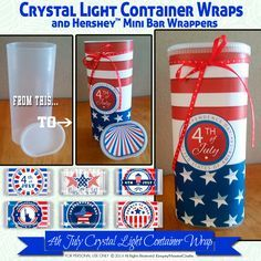 Crystal Light Container Wrapper, 4th July Hershey Mini's Candy Bar Wrapper,Printable favor wrapper by EmptyNesterCrafts on Etsy