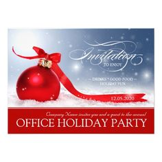 Corporate Holiday Party Invitation