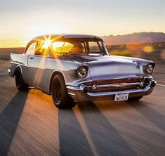 57 Chevy Bel Air with a stock car stance. Carros Suv, Automobile, Roadster, Chevrolet Bel Air, 1956 Chevy Bel Air, Sweet Cars, American Muscle Cars, Fiat 500, Car Car