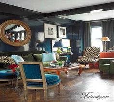 """Art Deco Style Interior Decorating Ideas Lounge Room Home Interior"""