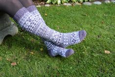Kanervat-pitkät kirjoneulesukat Knitting Charts, Knitting Socks, Knee High Socks, Gallery, Knit Socks, Roof Rack, Knitting Tutorials, Knee Socks