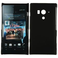 Hard Shell (Sort) Sony Xperia Acro S Deksel